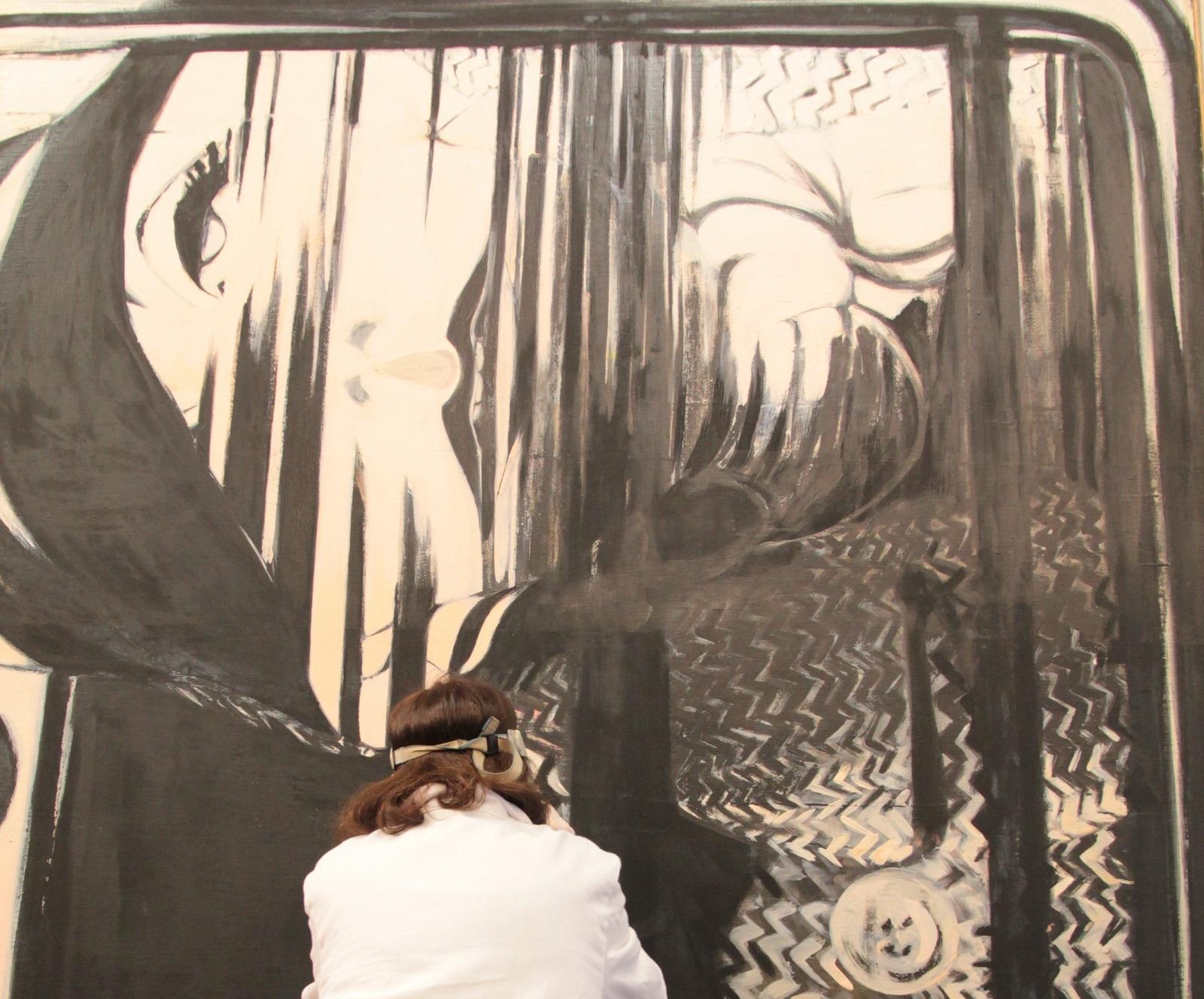 Rossella Lari restoring Greta Garbo