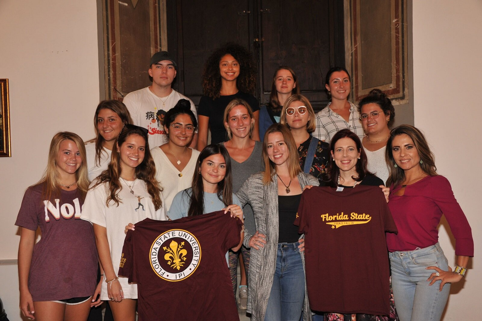 FSU students in Florence, fall term 2019 with AWA director and professor Maria Michela Mattei
