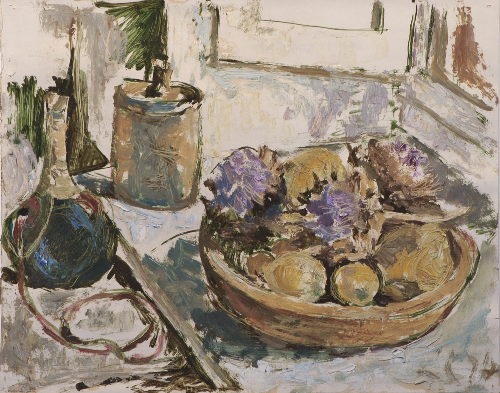 Costa's Flowers, artichokes and eggs, 1974