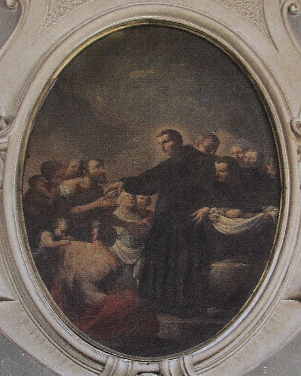 One of Ferroni's largescale ovals in the Atrium of San Giovanni di Dio
