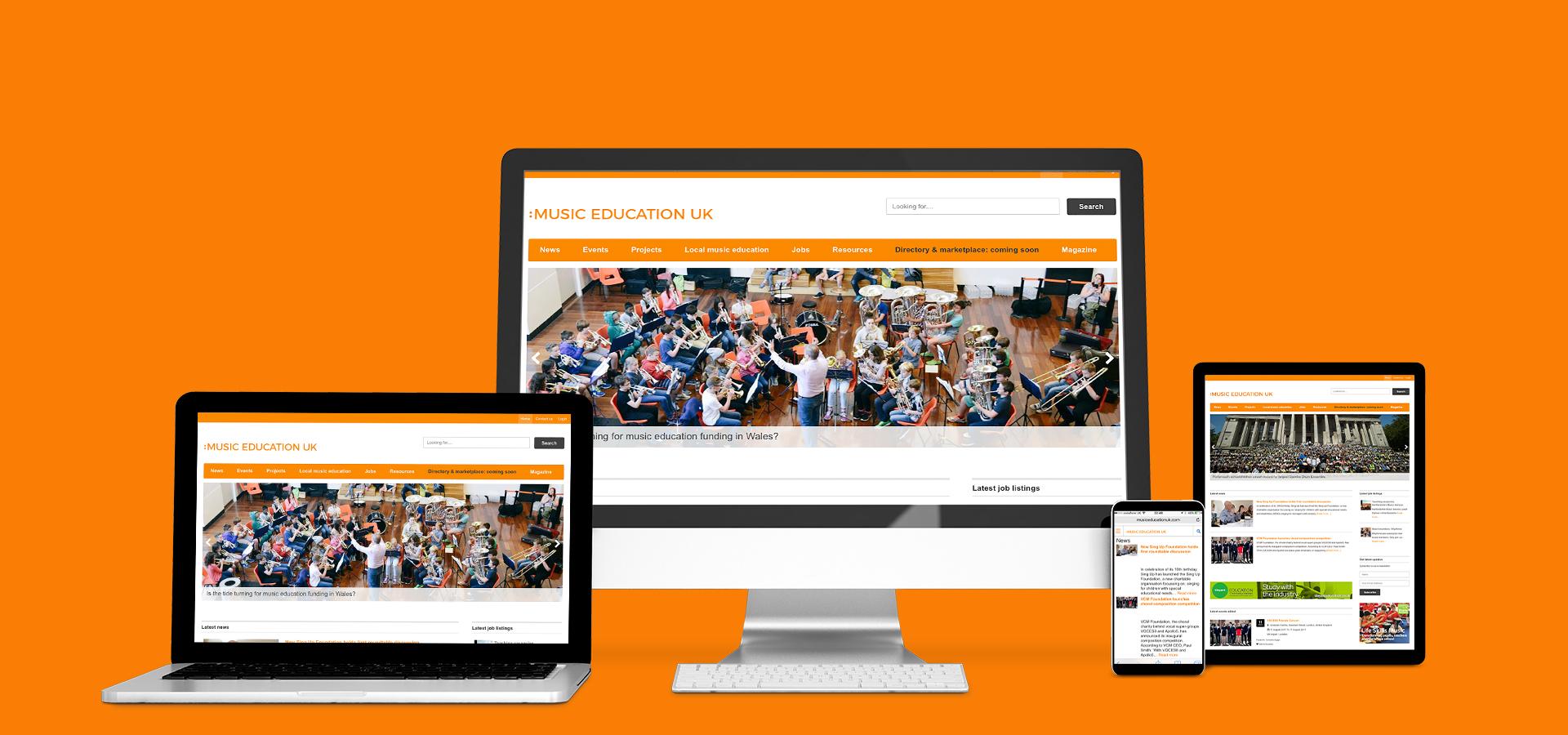 View Music Education UK on desktop, laptop, tablet or phone