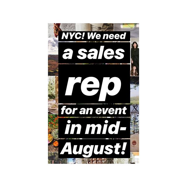 "NYC! We need a sales rep to help us with the @capbeautydaily curation inside of @shoppeobject ... Is this you? Your BFF? Let us know! Email hello@woodenspoonherbs.com or use the ""email"" button on our profile. 🥰🥰🥰"