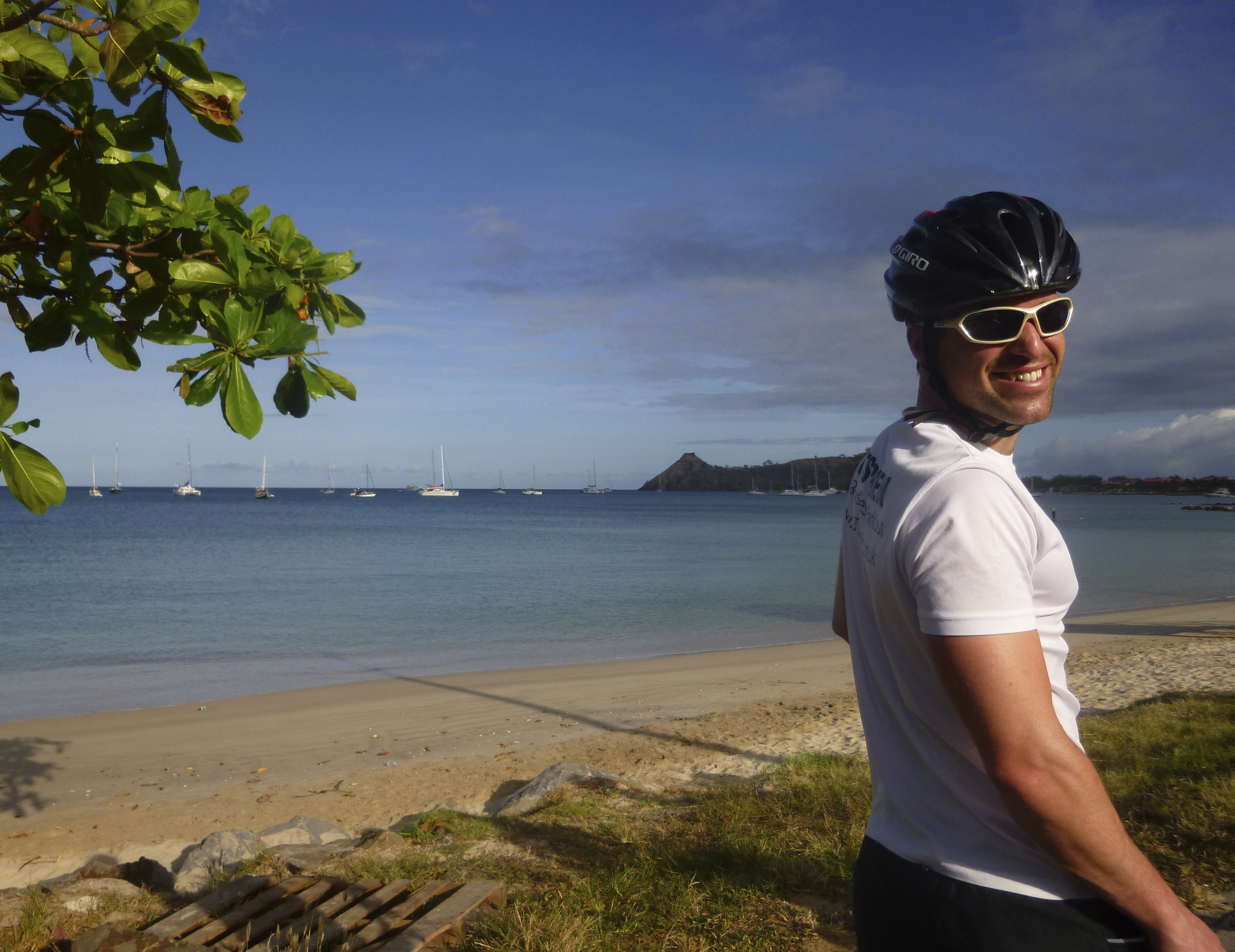 Life couldn't get any better at this point, sun, sea and cycling
