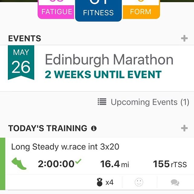 Our very own triathlon coach and #personaltrainer @joeyrossi84 is taking on the @edinburghmarathonfestival in 2weeks! Nailed his session today, 2 hour run including 3x20 minutes at target race pace. If you need advice to prepare for a running or triathlon event get in touch with our expert coaching team - - - - #breaking3 #tricoaching #runcoach #runbath #goals