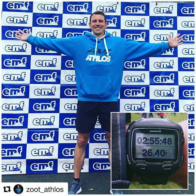#Repost @zoot_athlos with @get_repost 💪still smiling 🥴 ・・・ MARATHON • MAN - We're not just about triathlon at Zoot Athlos @joeyrossi84 has been focusing on breaking 3 hours for the marathon with the help of our coaching team from @urban_endurance . He #smashedit finishing in 2:55 even coming in with an excuse that the headwind for the last 5 miles slowed him by a couple of minutes 🤣. Well done Joey the hard work has paid off! - - @zootsports @otesportsgb @cycologybikesuk @urban_endurance @rideparcours - - #marathon #runner #triathlete #running #hardworkpaysoffs #runninglife #team