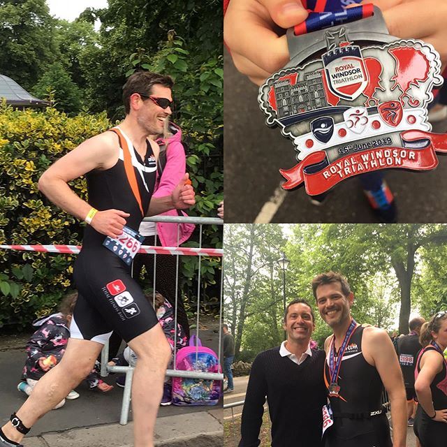 •CHALLENGE • COMPLETED  Congratulations to Robin who took on the challenge of doing a triathlon. For his first ever triathlon tackling  an open water event is a big achievement in itself . #windsortriathlon #royalwindsortriathlon #comfortzone #fathersday #inspire #traithlon