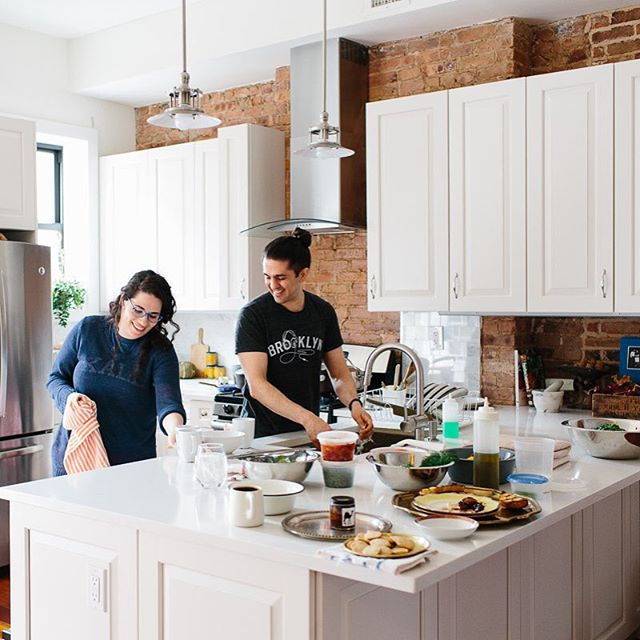 NEW PANTRY!! Introducing @nyshuk and their Middle East x Brooklyn #kitchen. Their food is amazing, guys. Stay tuned for our best giveaway ever, involving a home cooked dinner for two 😉🍴not to be missed. #linkinprofile / 📷 by @christineshoots