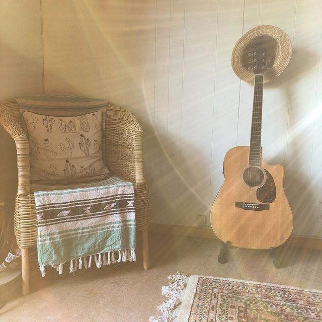Afternoon light in the living room corner