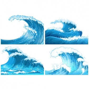 Note the different sizes and shapes of the waves... each is unique!