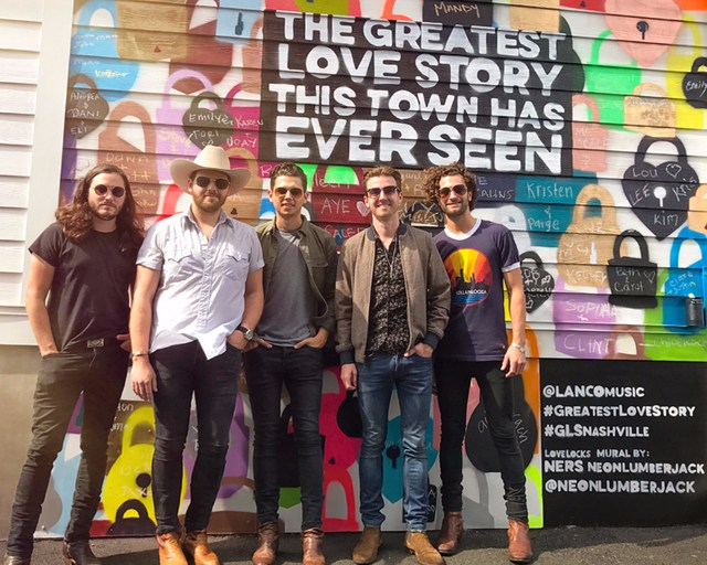 The band LANCO and their new mural.