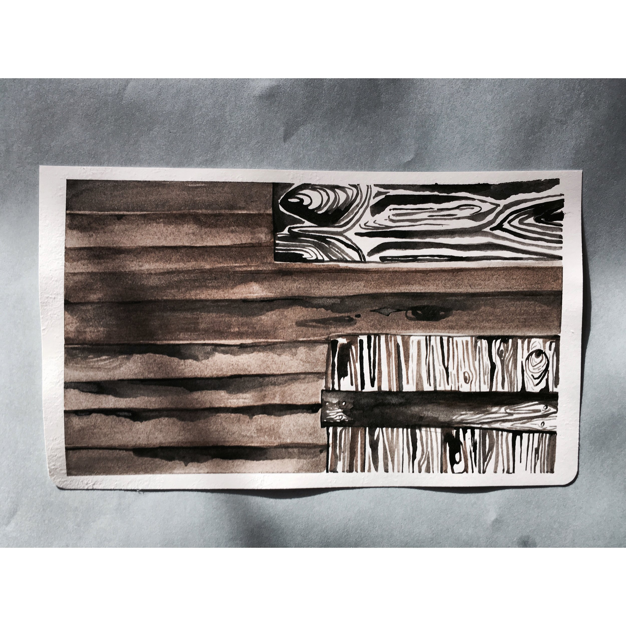 Pen + Ink Illustration, Brooklin Maine, 2017