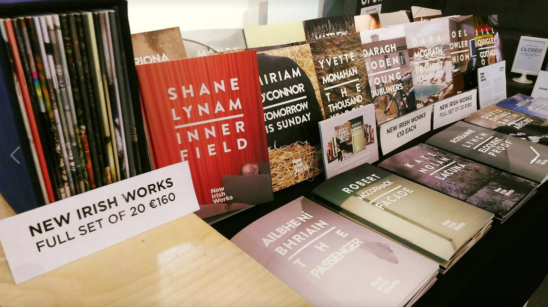 - All 20 New Irish works books now available at The Library Project , Dublin.