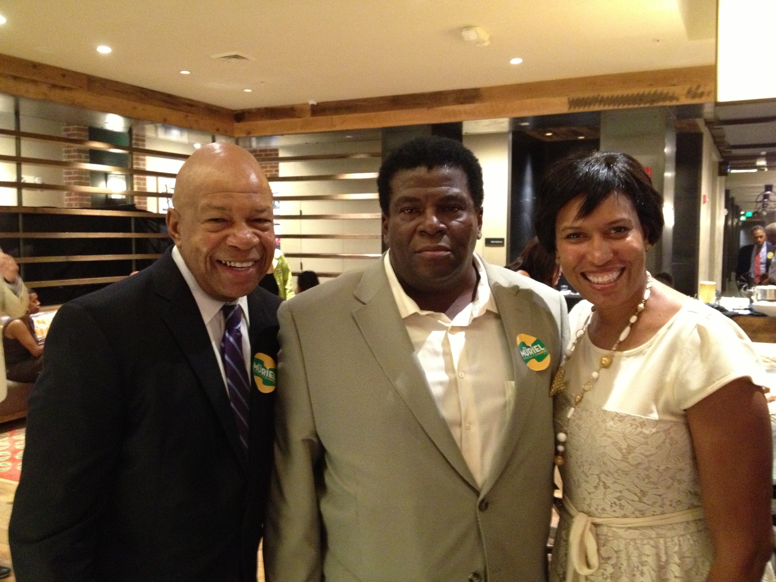 Maryland Congressman Elijah Cummings, Adrian Harpool and Newly Elected DC Mayor Muriel Bowser