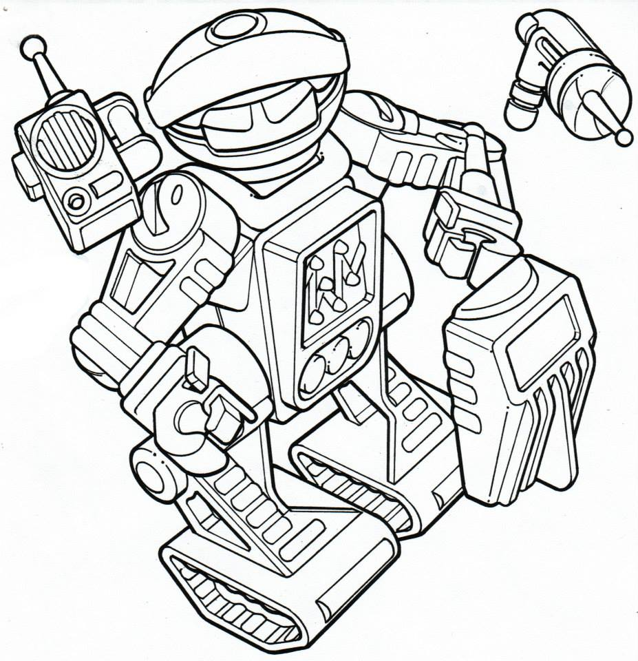 Toy robot with lights and sound drawing for Playskool.