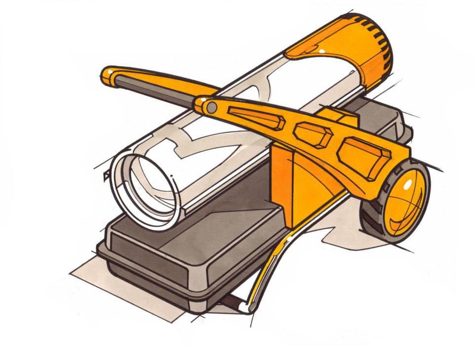 Concept render for DESA portable kerosene heater.