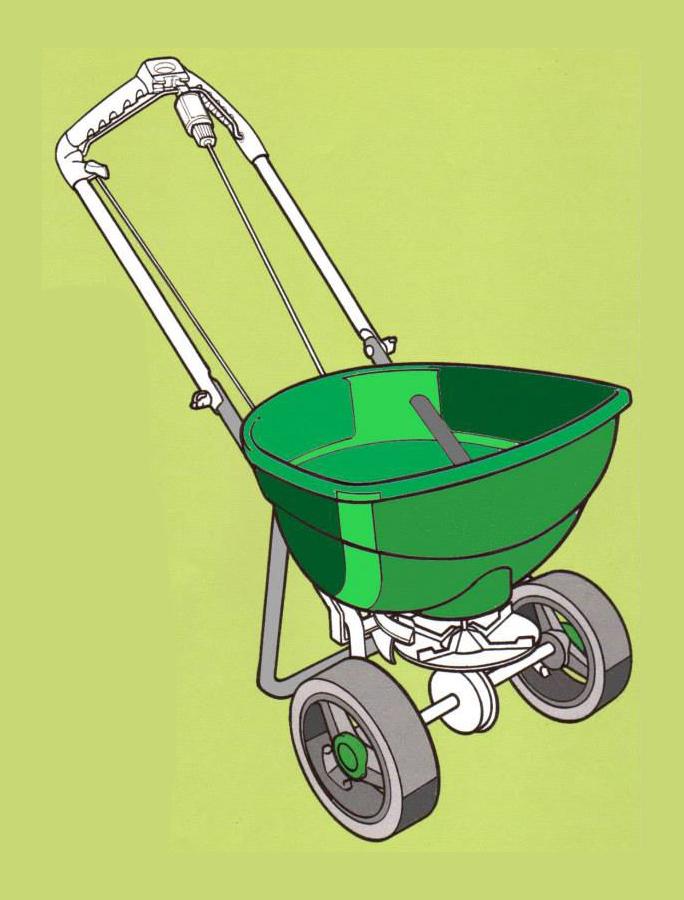Concept rendering for Scotts Lawncare fertilizer spreader.