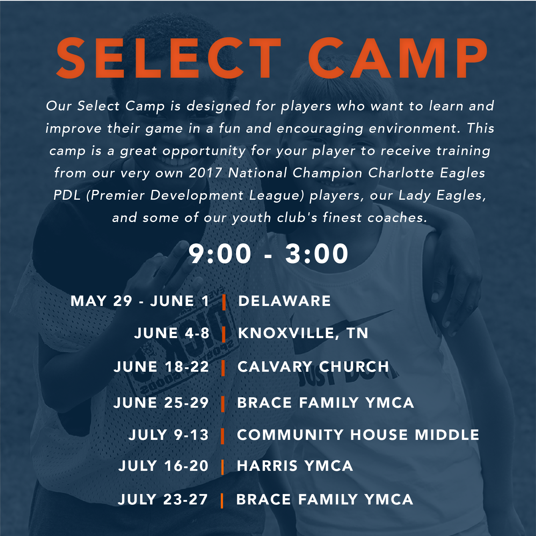 SELECT CAMP - 6 HOUR DAY CAMP