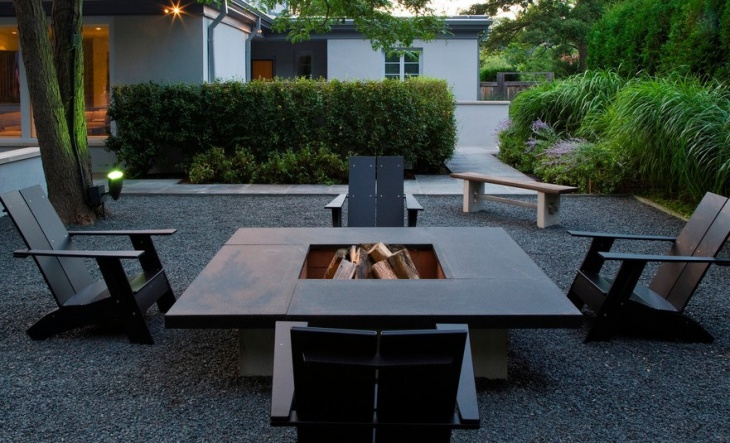 A fire pit creates a cosy and sociable garden feature