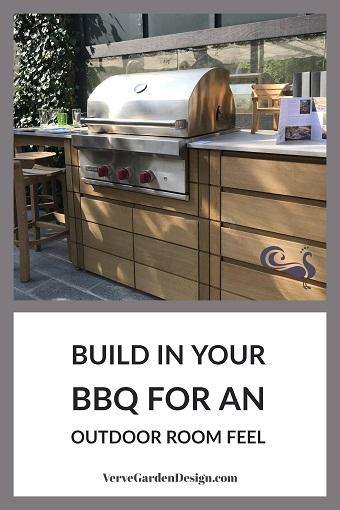 Hand-made Oak Outdoor Kitchen by Gaze Burvill. Designer: Butter Wakefield. Image: Lorraine Young/Verve Garden Design.
