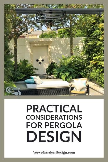 Elegant Powder-Coated Metal Pergola. Designer Kate Gould, West End Secret Garden. Image: Lorraine Young/Verve Garden Design