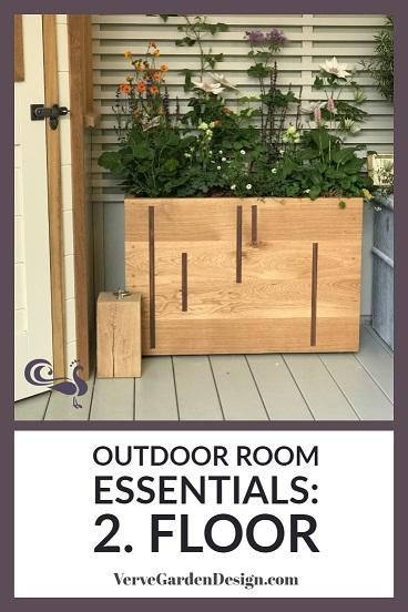 Both outdoor and indoor rooms need a defined floor area.  Image: Verve Garden Design