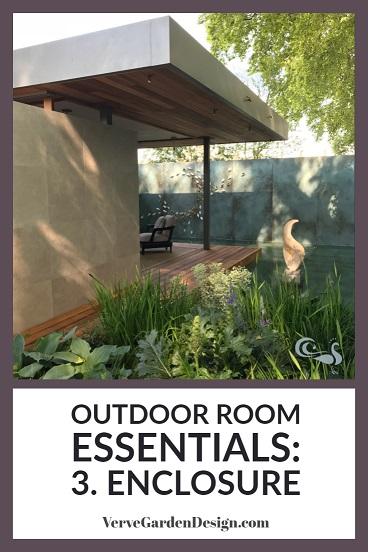 Outdoor rooms need enclosure to feel intimate. Designer: Chris Beardshaw.  Image: Verve Garden Design