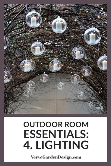 Lighting in outdoor rooms extends use.  Image: Verve Garden Design