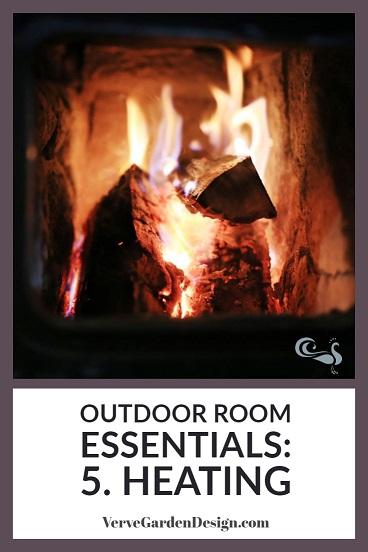 Don't head indoors, heat your outdoor room.  Image: Verve Garden Design