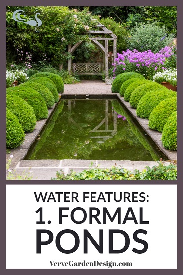 Classical formal pond at Wollerton Old Hall. Image: Chris Denning/ Verve Garden Design
