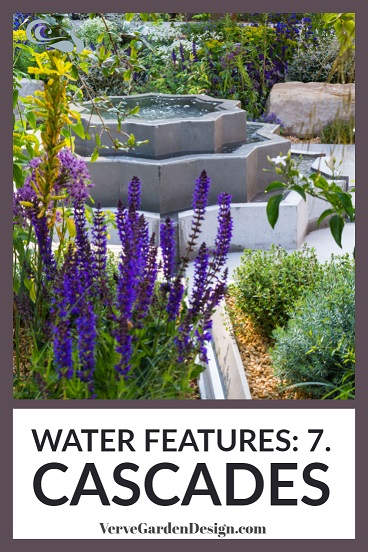 Cascade water feature in Lemon Tree Trust garden. Designer: Tom Massey. Image: Lorraine Young/Verve Garden Design.
