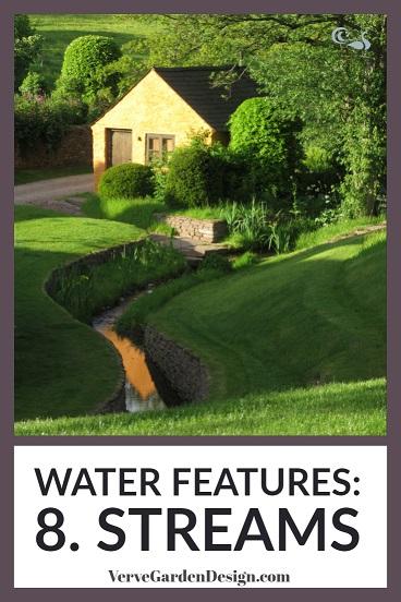 Winding stream water feature in Arne Maynard's Welsh garden at Allt-y-Bela.  Image: Chris Denning/Verve Garden Design.