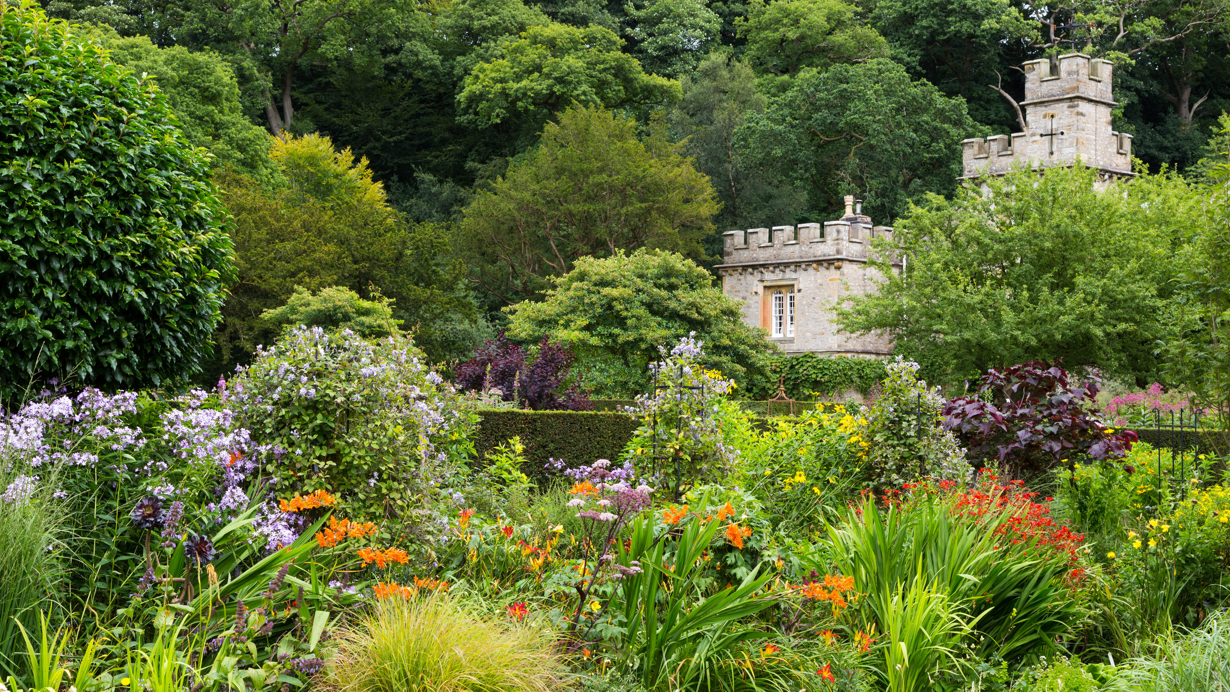 Designer Arabella Lennox-Boyd has created stunning herbaceous borders at Gresgarth Hall.   Image: Chris Denning/Verve Garden Design