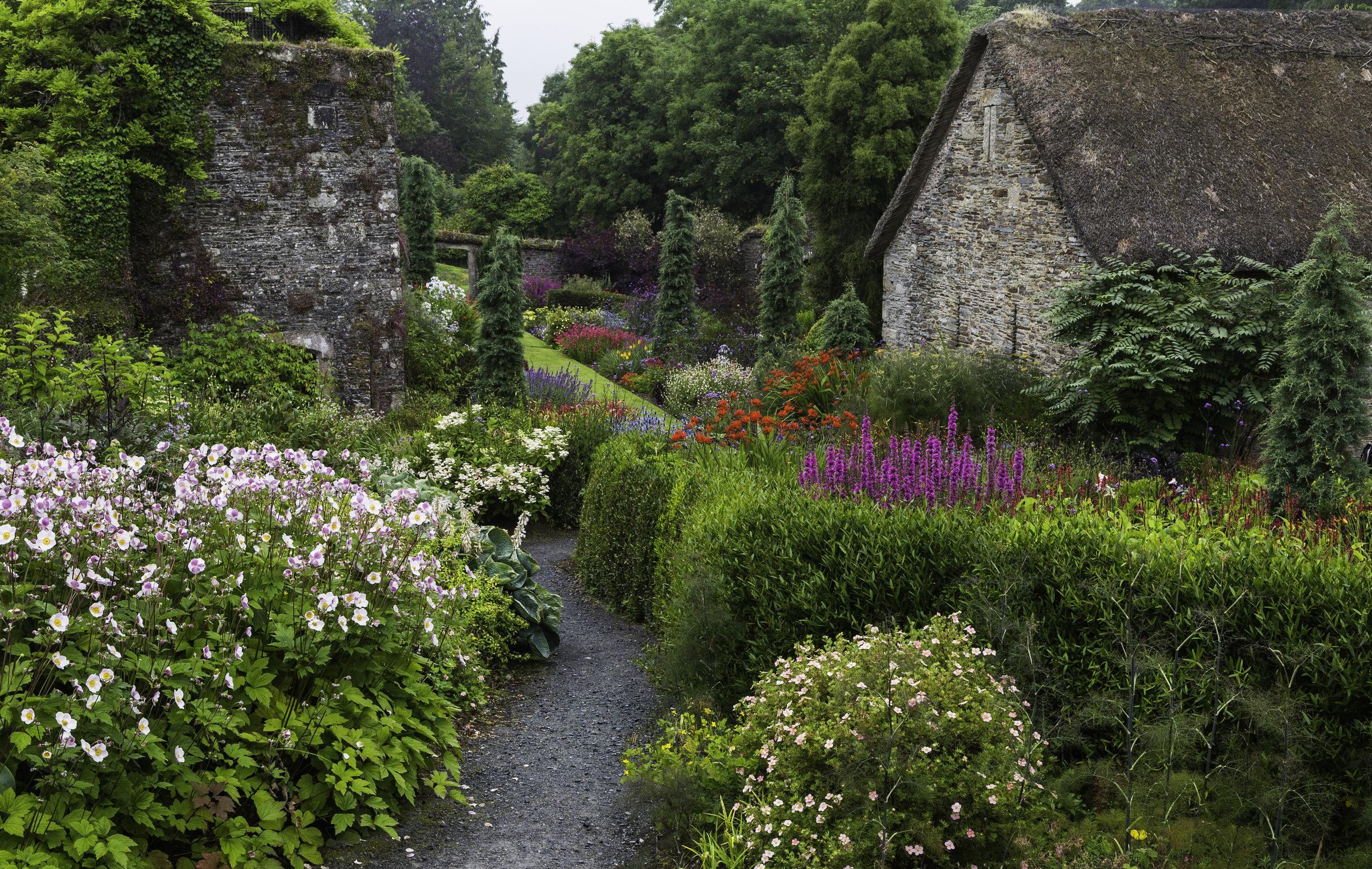Late Summer Colour in The Garden House Walled Garden.Image: Chris Denning/Verve Garden Design.