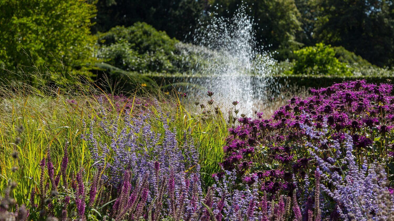 Perennial Meadow and Fountain at Scampston Hall Walled Garden. Designer: Piet Oudolf.   Image: Chris Denning/ Verve Garden Design.
