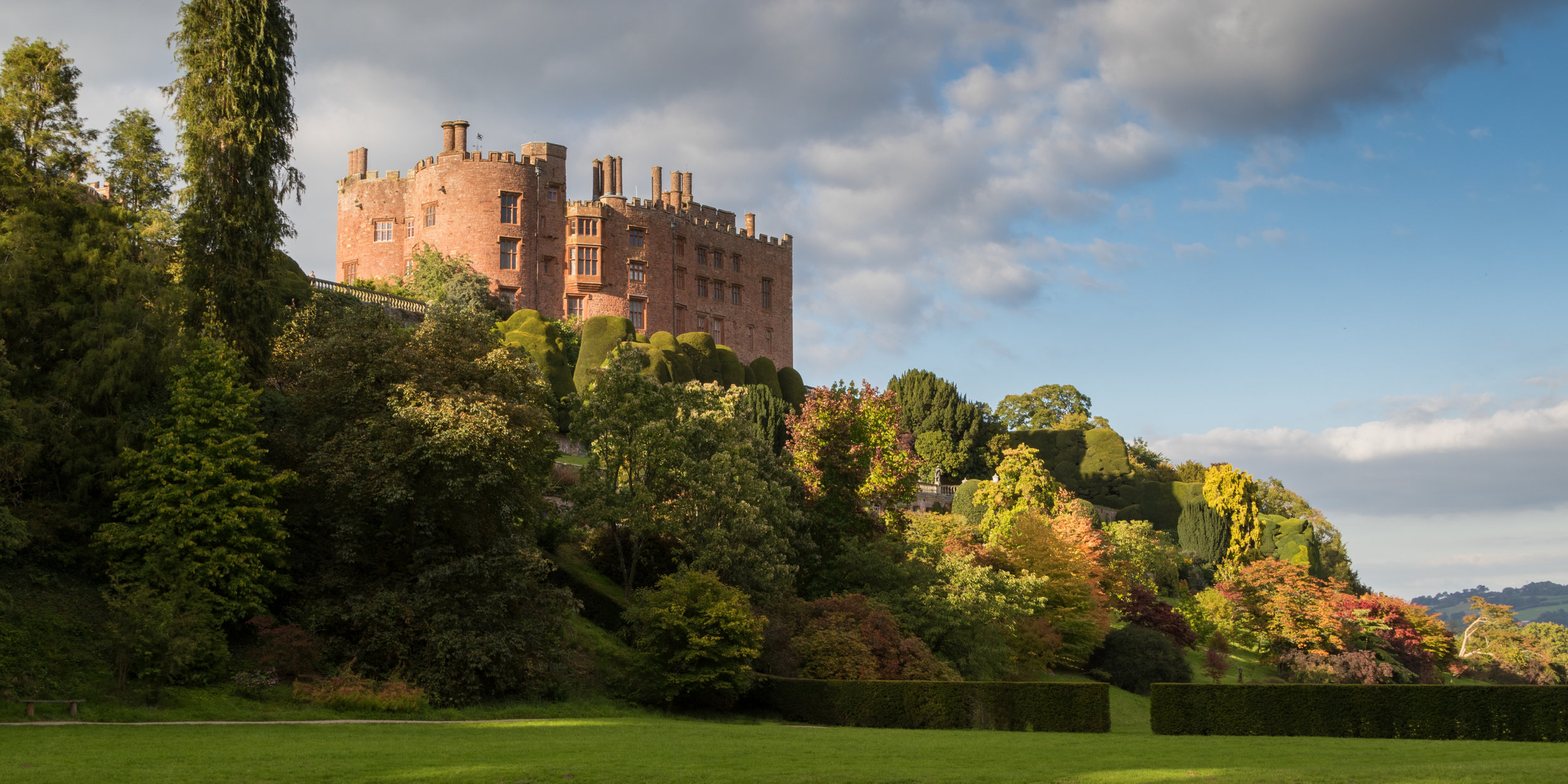Trees in Autumn Colour at Powis Castle. Image: Chris Denning/ Verve Garden Design.