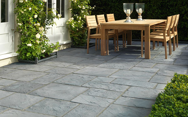 Millstone NEXTPave riven concrete patio from Stonemarket