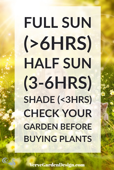 Number of hours of direct sunlight needed for different plant categories .