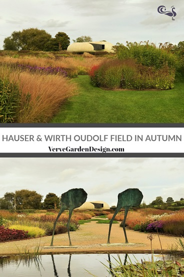 Island Beds in the Hauser & Wirth Prairie Garden in Autumn. Designer: Piet Oudolf. Image: Chris Denning/ Verve Garden Design.