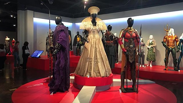Academy Award nominated and winning costumes on display @fidmmuseum . . #dtla #blackpanther #aquaman #oscars #fidm