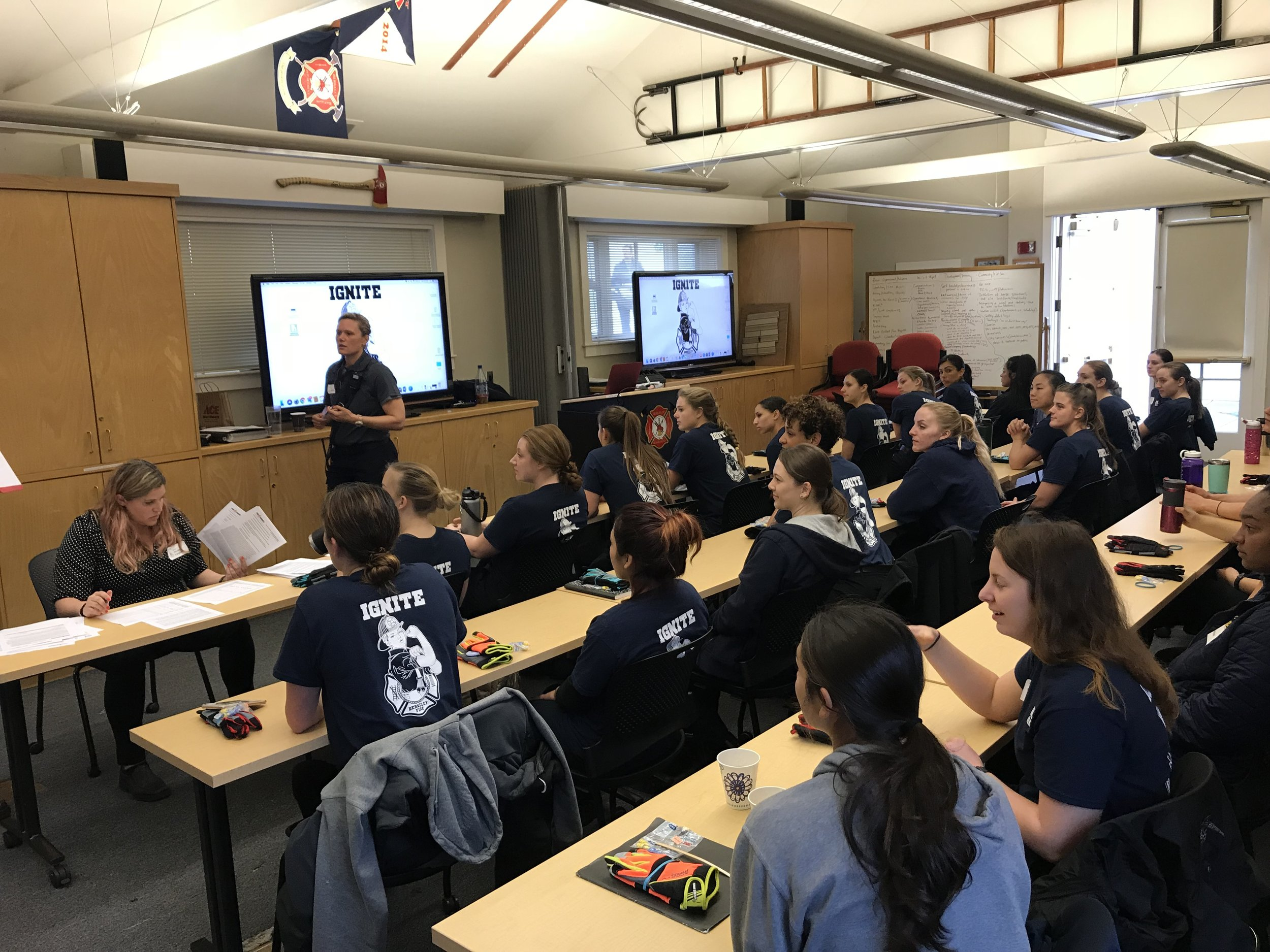 EDUCATION  - student are exposed to what the fire service is through presentations. They are given the opportunity to ask questions to other firefighters.