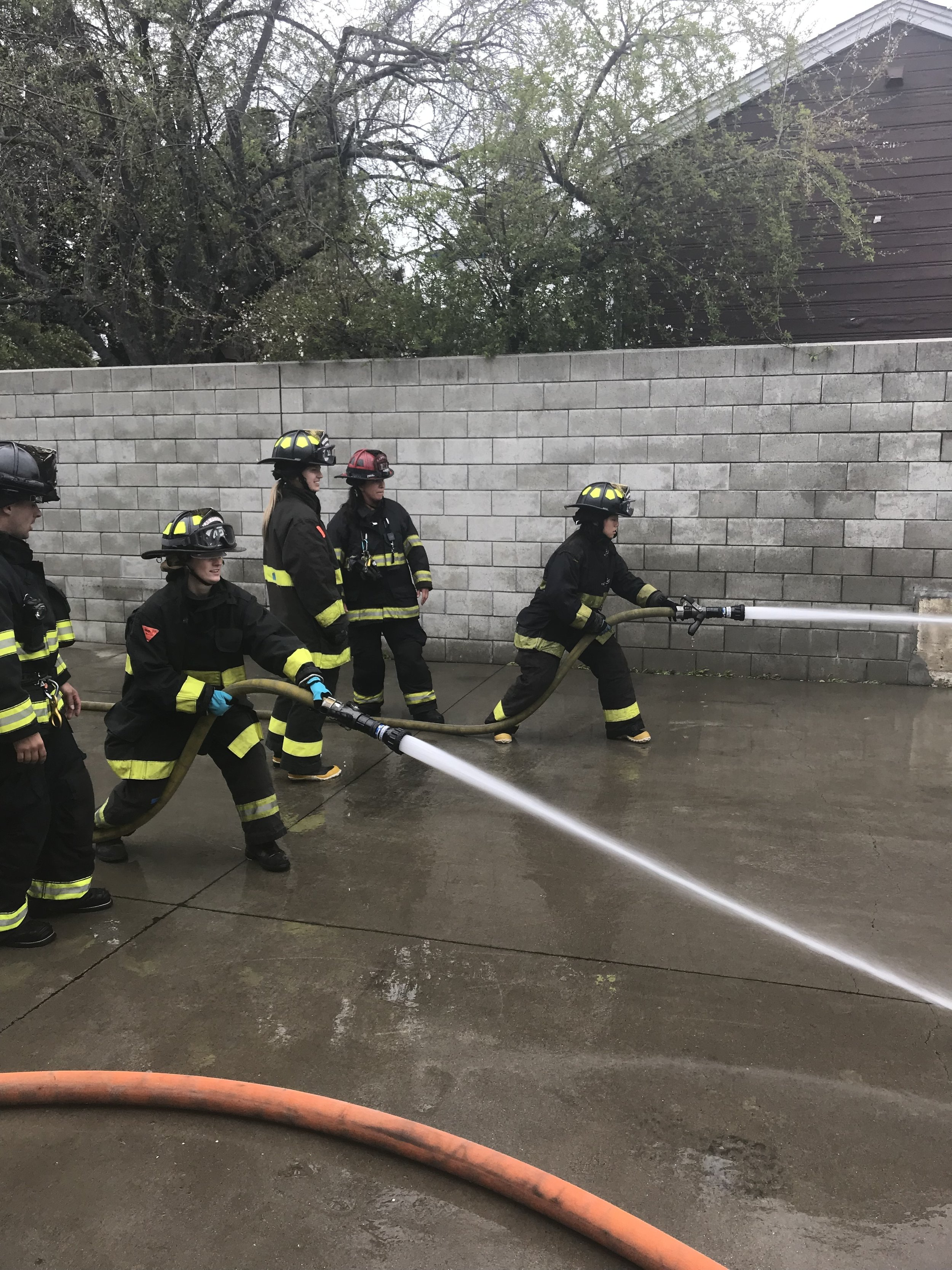 EXPERIENCE  - Students are given the opportunity to get a hands on experience and actually touch and perform hands on skills in a 2 day camp instructed by professional firefighters.