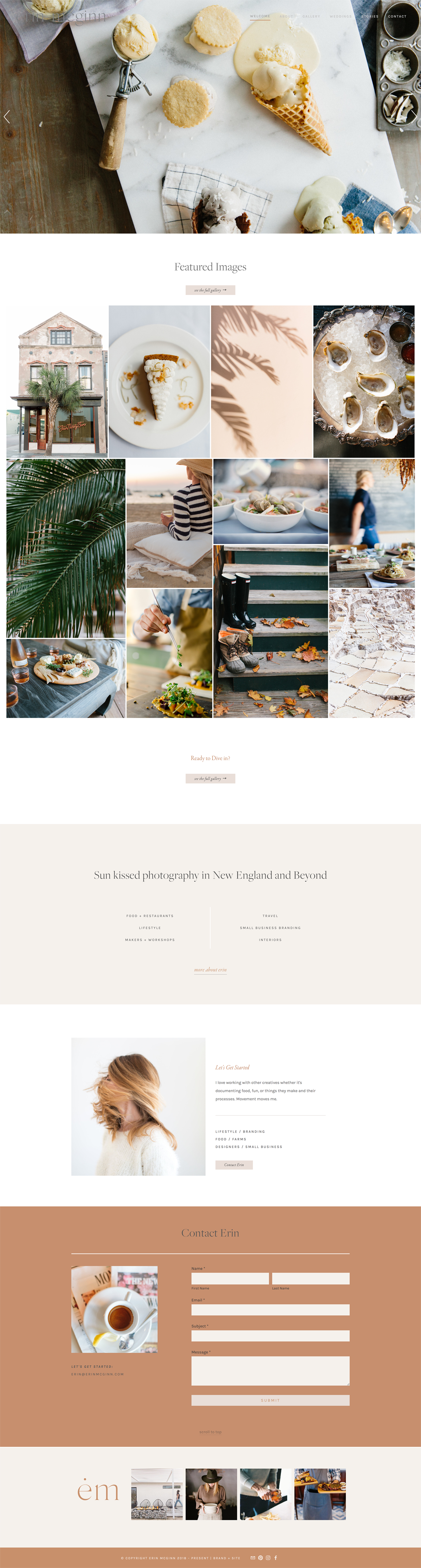 Minimal Squarepace Website for Photographer