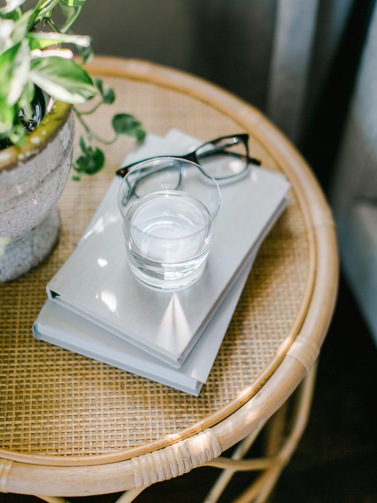 Reading Glasses On Table