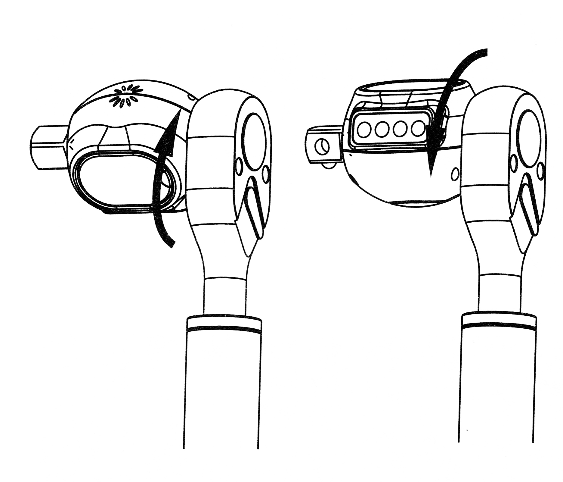 THE DISPLAY HOUSING WILL ROTATE AROUND THE SHAFT.  YOU HAVE NOT BROKEN ANYTHING.  THIS LETSYOU SEE THE DISPLAY BETTER.