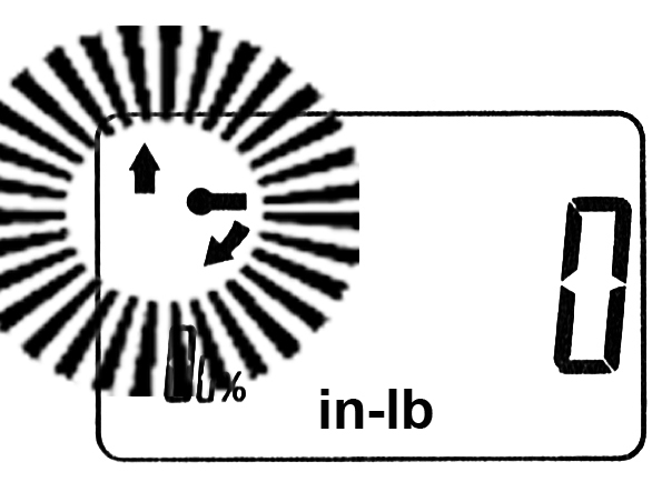 ONLY ARROW POINTING UP SHOULD REMAIN ON DISPLAY