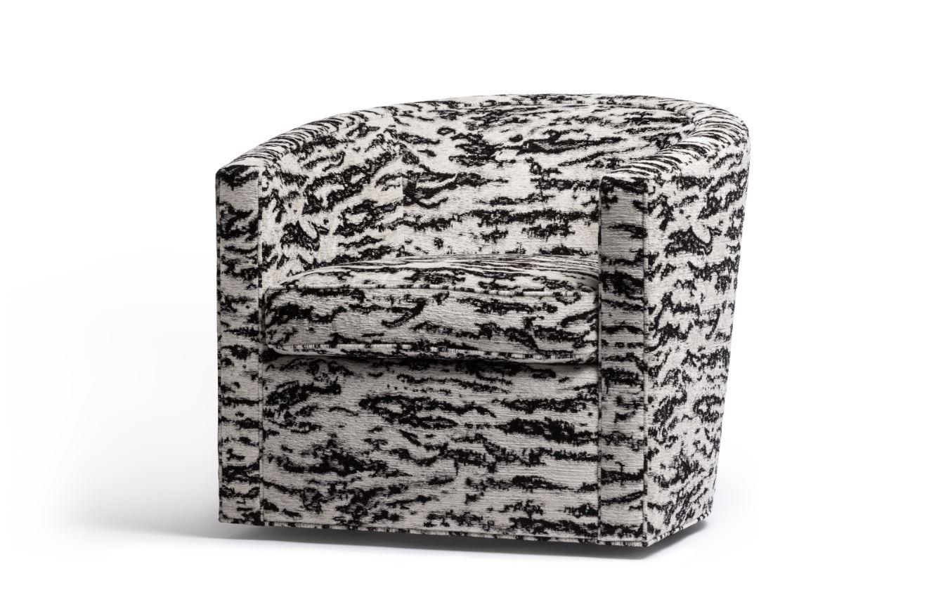 Barrel Swivel Lounge Chair