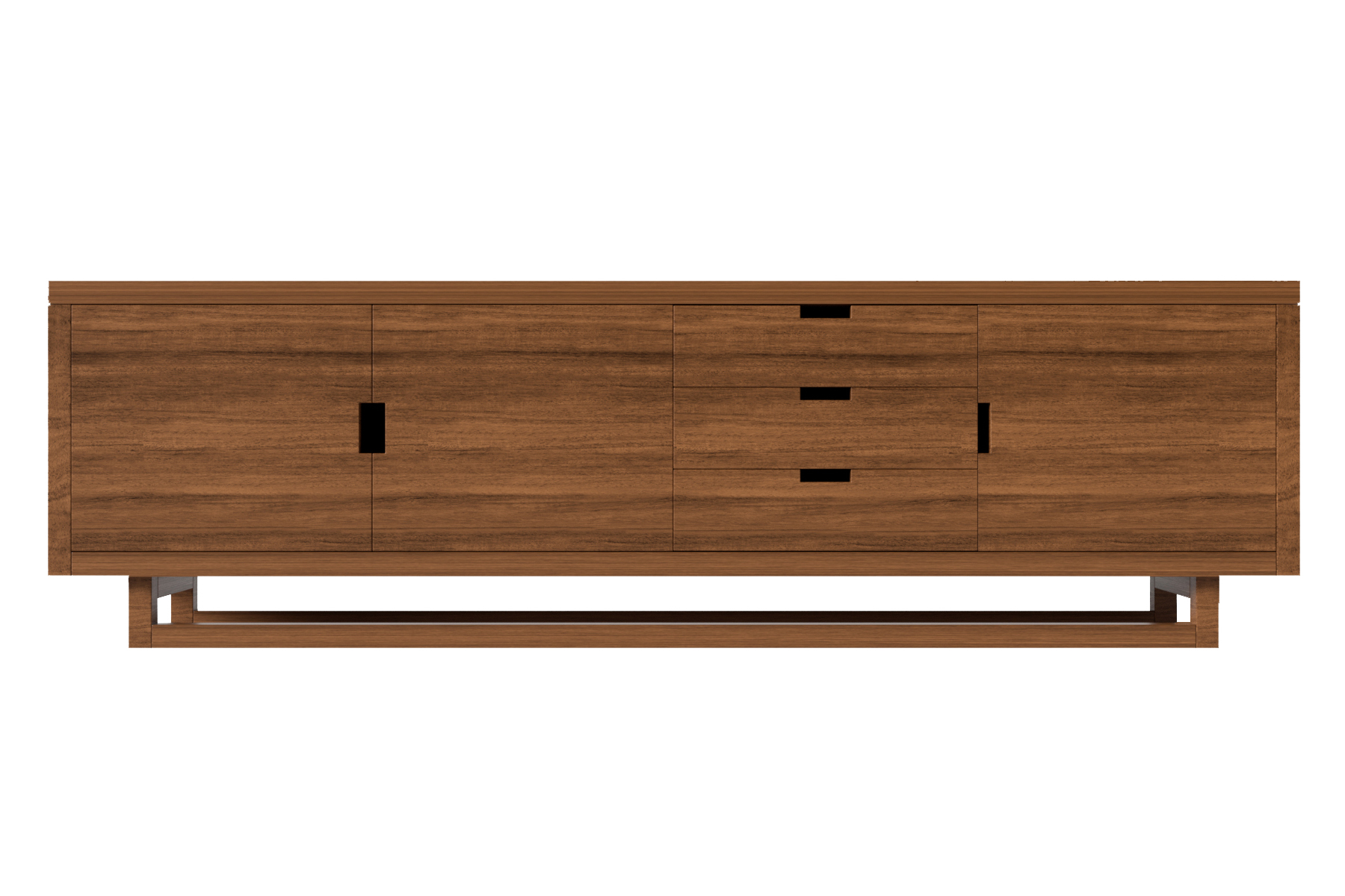 Corbets Console Natural Walnut