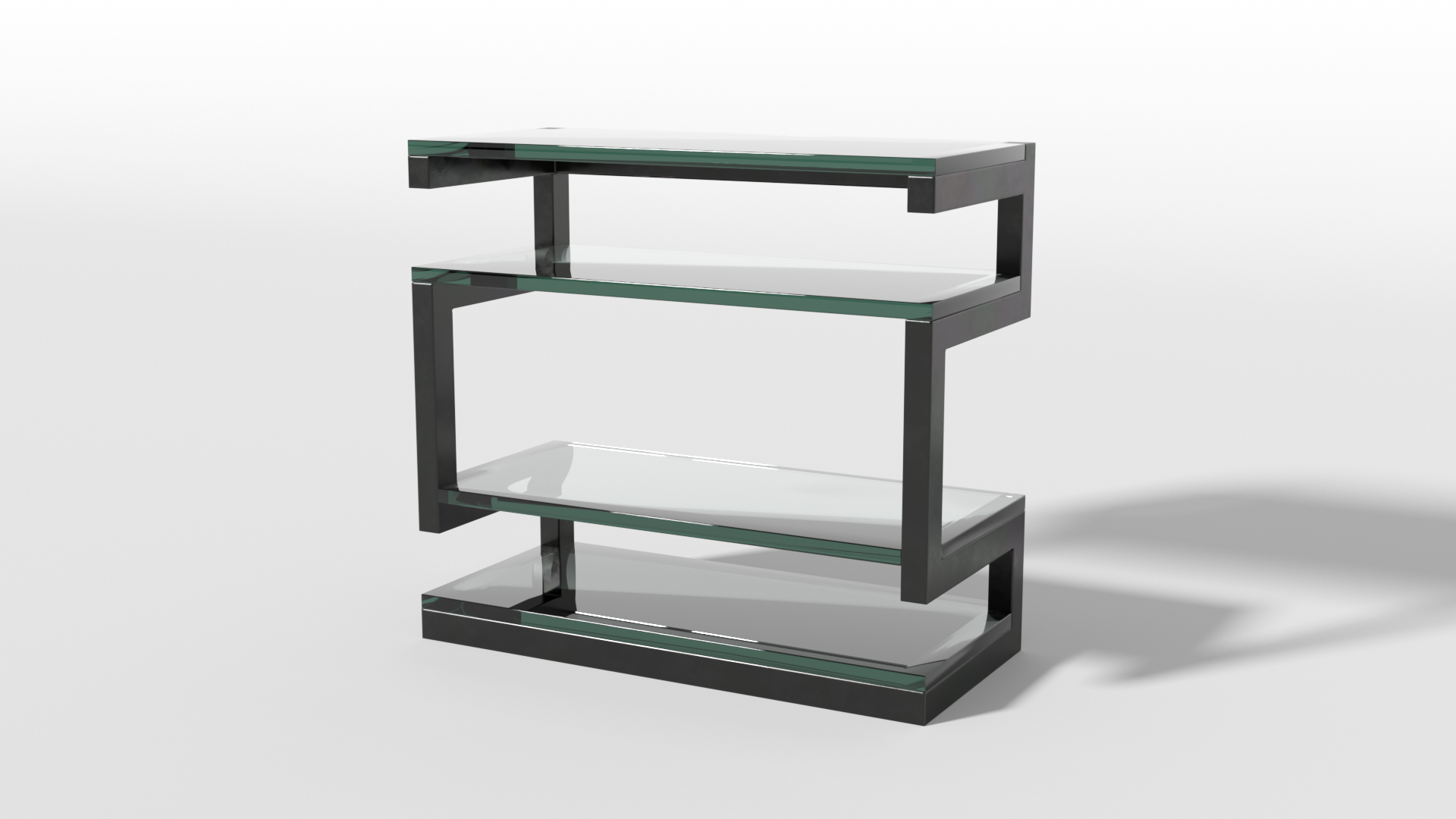 Petite Grand Etagere - Black/Glass