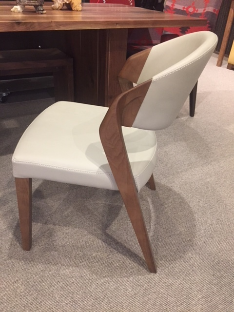 Putty Leatherette Dining Chair