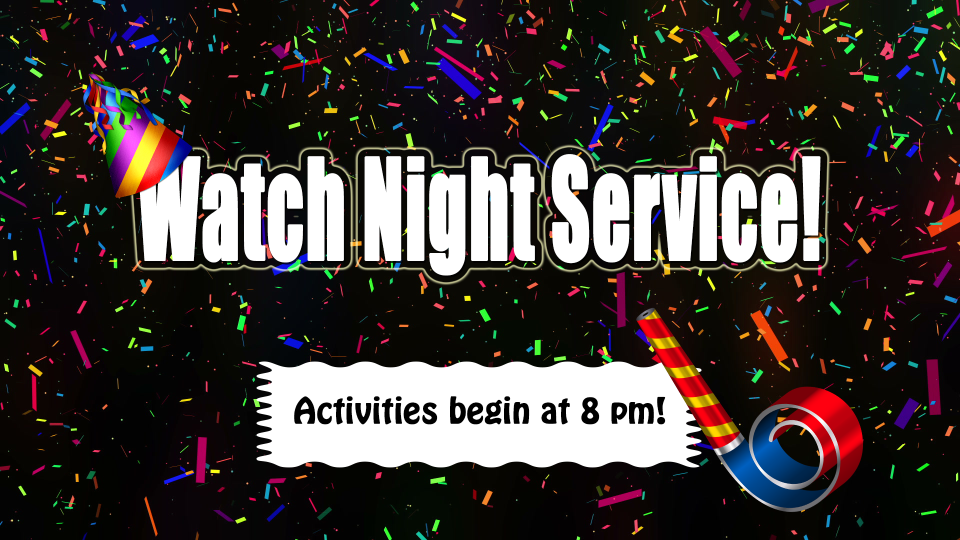Our watchnight service so filled with fun. We had a great time and wonderful food. There were great  games and fellowship!